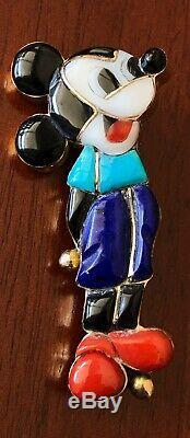 14k Gold Veronica Poblano Vintage Mickey Mouse Zuni Pin