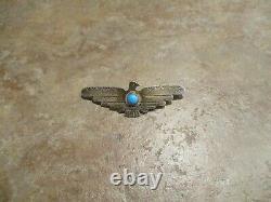 2 1/2 PREMIUM Vintage Navajo Sterling Silver Turquoise THUNDERBIRD Pin
