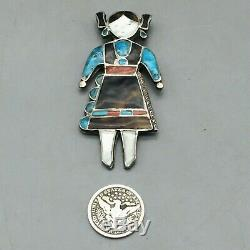 A Great Old Zuni Inlay Pin or Brooch LOOK