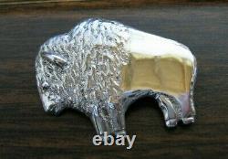 Alfred Martinez Navajo Buffalo Sterling Silver Pendant Pin/Brooch AM- Heavy