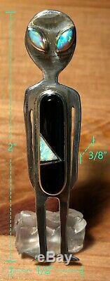 Alien vandever navajo indian native american pin/brooch/lapel/converter/pendant