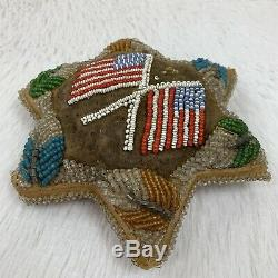 Antique Iroquois Native American Flag Pin Cushion Whimsey Whimsy Americana