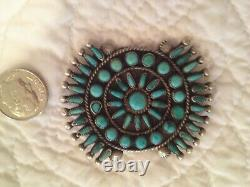 Antique Turquoise and silver Navajo pin received as a gift in 1970
