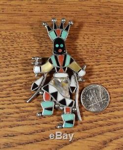 Apache Crown Dancer Ghan Kachina Pendant Pin Zuni artist Lynette Laiwakete