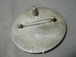 Astonishing Vintage Hopi Sterling Silver Kokopelli Pin Pendant Native American