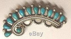 B. R. Kallestewa Zuni Native American Turquoise Pin/pendant/very Rare/signed/zanig