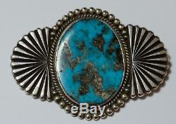 Beautiful PERRY SHORTY Morenci Turquoise Pin