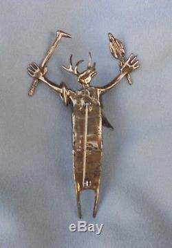 Bill Worrell Native American Shaman Brooch Pin