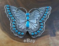 Butterfly Pin/Pendant Turquoise and Sterling Silver