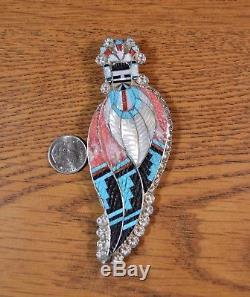 CORN MAIDEN Kachina Pendant Pin brooch Quality Zuni Inlay Eldred Martinez