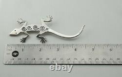 Cochiti Zuni CAE Christine Alice Eustace Stamped Lizard Brooch / Pin