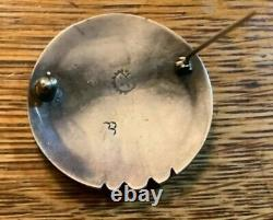Collectible Victor Coochwytewa Sterling Silver Pin Historical Early Signature