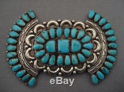 Colossal Vintage Navajo Turquoise Silver Pin