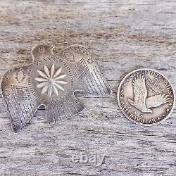 Concha Thunderbird Pin Fred Harvey Era Sterling Silver Native American Large