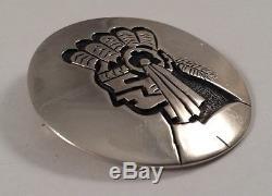 Dalton Taylor Vintage Divine Hopi Kachina Sterling Silver Pin Brooch