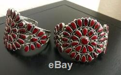 Dead Pawn Coral Cluster Bracelet, Ring, Pin/Pendant and Earring Set, New Mexico