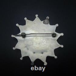 ELEGANT Vintage NAVAJO Sterling Silver TURQUOISE Cluster Petit Point PIN/BROOCH