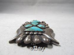 ESTATE Rare Turquoise Frank Patania Sr Thunderbird Pin Brooch Ring Set K987