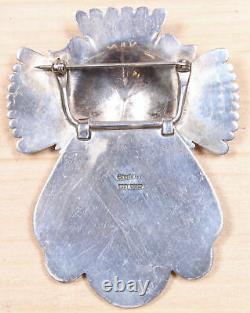 Eddy Chaco Navajo Sterling Silver Hinged Brooch DGD X854C