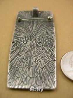 Eric Othole, Zuni-Cochiti, Pin/Pendant, Coral & Sterling Silver