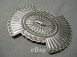 Exquisite Vintage Navajo Sterling Silver Pin Pendant Old Native American