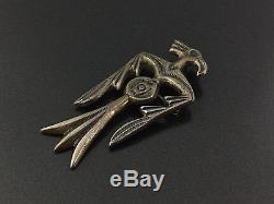 Frances Jones Vintage Navajo Thunderbird Sterling Silver Pin Brooch Pendant