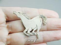 Gorgeous Frank Salcido Comes Charging Sterling Horse Pin