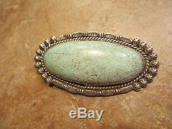 HUGE Antique Old Pawn Navajo Sterling Silver DRY CREEK Turquoise Pendant & Pin
