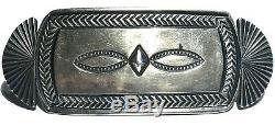 Harry Morgan Navajo Native American Sterling Silver Artisan Vintage Brooch Pin