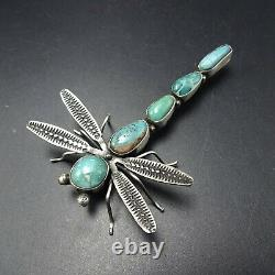 Herbert Ration NAVAJO Sterling Silver NATURAL TURQUOISE DRAGONFLY PIN/BROOCH