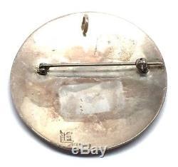 Hopi Handmade Sterling Silver Kokopelli Pendant/Pin