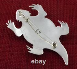 Horny Toad Pin-Pendant By Navajo Artist Lee Charley