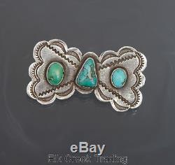 INCREDIBLE Vintage NAVAJO PIN Fred Harvey style, Turquoise and Sterling Silver