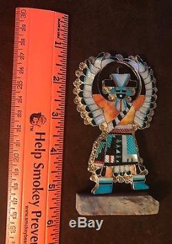 Knifewing ZUNI Pin Pendant Eldred Martinez Silver Native Southwest