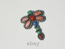 LEO FEENEY Vintage Sterling Silver Multi Stone Dragonfly Pin, by Don Lucas