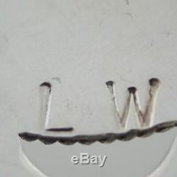 Lorraine Waatsa Zuni Sterling Silver & Turquoise Southwest Cluster Pin Pendant