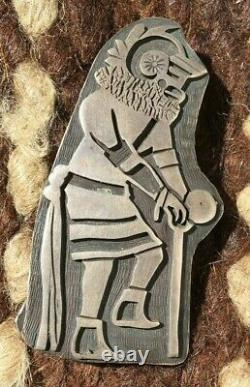 Magnificent Vintage Hopi Sterling Silver Overlay Kachina Pin Native American