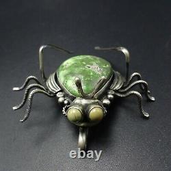 Marita Benally NAVAJO Sterling Silver TURQUOISE Creepy Crawly Bug PIN/BROOCH