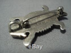 Marvelous Vintag Navajo Toad Sterling Silver Ben Yazzie Pin
