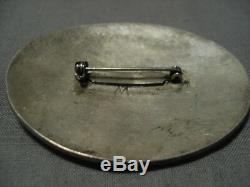 Marvelous Vintage Navajo Sterling Silver Henry Morgan Pin Old