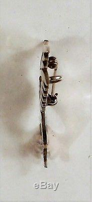 McBride Lomayestewa HOPI Sterling Silver Humming Bird Pin / Pendant -Overlay