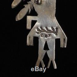 Michael Little Elk Sterling Silver Sugilite Turquoise Yei Kachina Pin Pendant