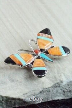 Multi Stone and Sterling Silver Inlay Pendant & Pin Angus Ahiyite