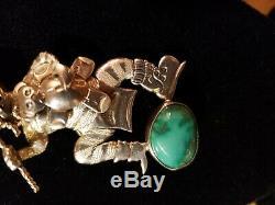 Native American Bennie Ration Kochari Kachina Pin Brooch Pendant Navajo Sterling