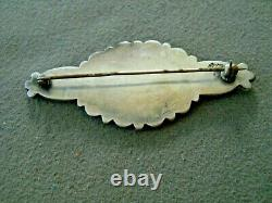 Native American Indian Turquoise Cluster Sterling Silver Pin Brooch