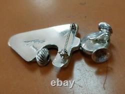 Native American Kachina Navajo Girl Sterling Silver Pendant Pin Nelson Morton