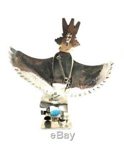 Native American Sterling Silver Navajo Eagle Silver Katchina Pin Pendant