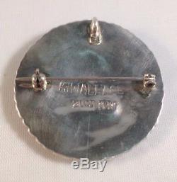 Native American Zuni Handmade Turquoise Needlepoint Sterling Silver Pin/Pendant