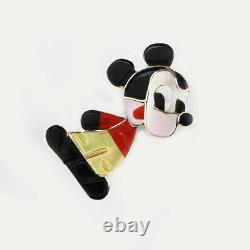 Native American Zuni Mickey Mouse Pin/pendant By Paula Leekity