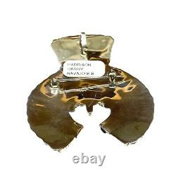 Navajo Handmade Sterling Silver Multi Stone Cluster Pin/Pendant Harrison Harry